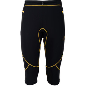 La Sportiva Nucleus Leggings 3/4 Homme, black/yellow